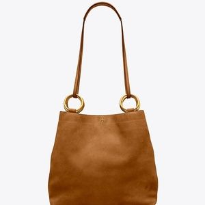 Tory Burch Farrah Tote in Dark Tiramisu